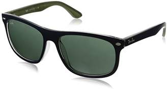 Ray-Ban INJECTED MAN SUNGLASS - Frame DARK GREEN Lenses 59mm Non-Polarized