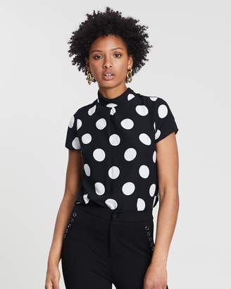 Dorothy Perkins Spotted Tie Back Top