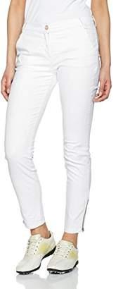 Brax Women's Selina Crop Sports Trousers, Weiß (White 99), (Manufacturer Size: 44)