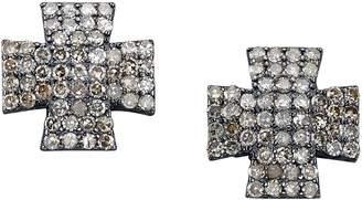 SHERYL LOWE Maltese Diamond Stud Earrings
