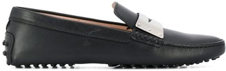 Tod's Gommino metal plaque driving loafers