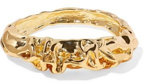 Kenneth Jay Lane Hammered Gold-plated Bangle