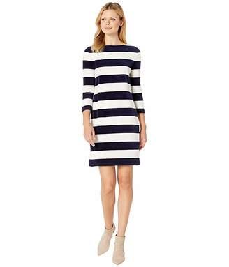 Lauren Ralph Lauren Striped Boat Neck Dress