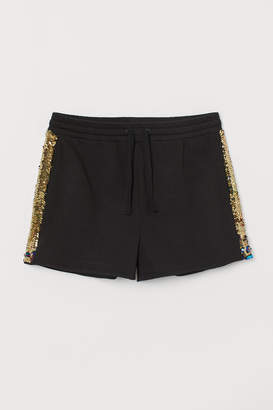 H&M Shorts with reversible sequins