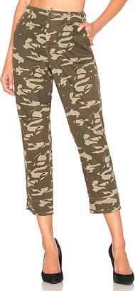 Monrow Two Tone Camo High Waisted Military Pant