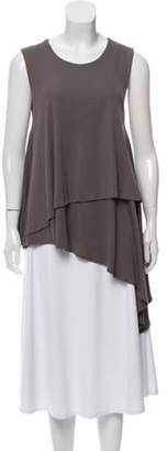 Joseph Sleeveless Asymmetrical Top Grey Sleeveless Asymmetrical Top