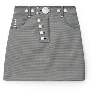 Alexander Wang Alexanderwang snap front mini skirt