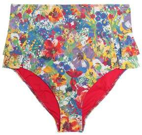 Buy Ruffle-Trimmed Printed High-Rise Bikini Briefs!