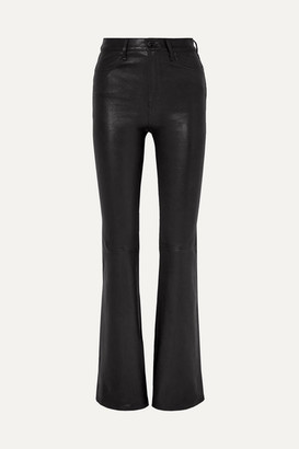 Rag & Bone Bella Leather Flared Pants - Black