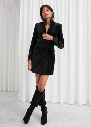 And other stories Velvet Blazer Dress