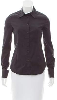 Miu Miu Tailored Long Sleeve Button-Up