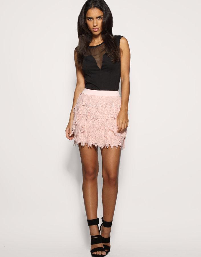 Rare Laser Cut Lace Skirt