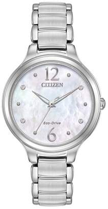 Citizen Women's Eco-Drive L Chandler Crystal Stainless Steel Watch, 32mm