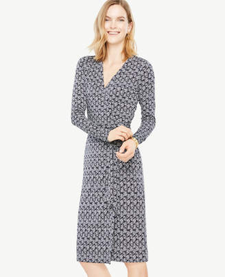 Ann Taylor Tall Vine Wrap Dress