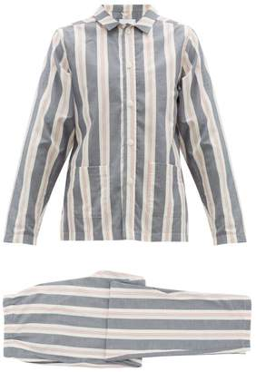 Nufferton - Uno Striped Cotton Pyjama Set - Mens - Grey Multi