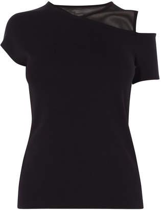 Karen Millen Cold-shoulder T-shirt