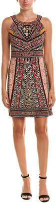 Hale Bob Printed Halter Shift Dress