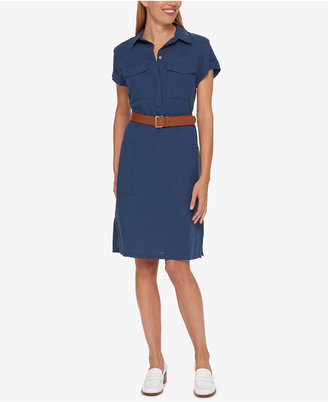Tommy Hilfiger Belted Shirtdress, Only at Macy's $129.50 thestylecure.com