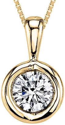 Sirena 1/12 CT. T.W. Diamond 14K Yellow Gold Pendant Necklace
