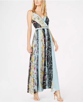 INC International Concepts I.N.C. V-Neck Patchwork Maxi Dress, Created for Macy's