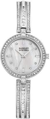 Badgley Mischka Women's Swarovski Crystal Accented Analog Bracelet Watch, 28mm