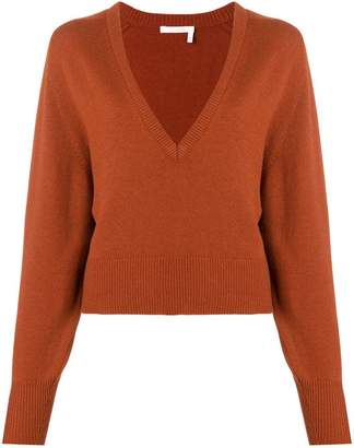 Chloé deep V-neck sweater