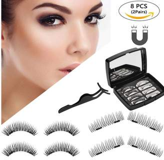 Mingus 3D Magnetic Eyelashes Reusable Lashes Extension with Free Tweezer - 8 Pieces
