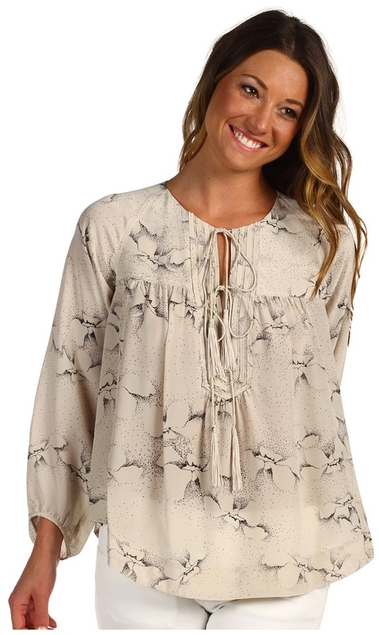Rebecca Taylor Aristotle Blouse (Oyster) - Apparel
