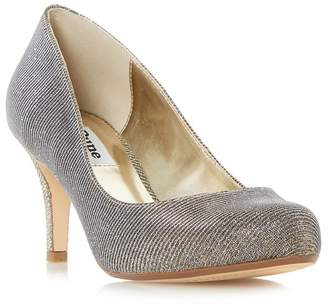 Dune Gold 'Amelia' Mid Stiletto Heel Court Shoes