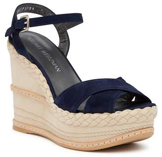 Stuart Weitzman Sundry Suede Wedge Sandal - Multiple Widths Available