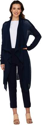 Halston H By H by Cowl Neck Long Cardigan