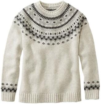 L.L. Bean Women's L.L.Bean Classic Ragg Wool Sweater, Fair Isle Crewneck