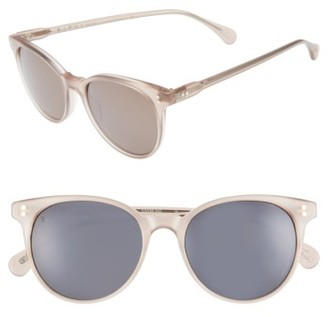 Women's Raen Norie 51Mm Cat Eye Mirrored Lens Sunglasses - Flesh $155 thestylecure.com