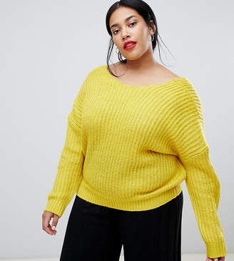 Asos DESIGN Curve sweater with cross over back