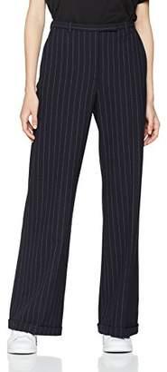 J. Lindeberg Women's Kori Fab Pinstripe Wide Trousers,(Manufacturer Size:40)