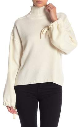 BCBGMAXAZRIA Oversized Turtle Wool Blend Pullover