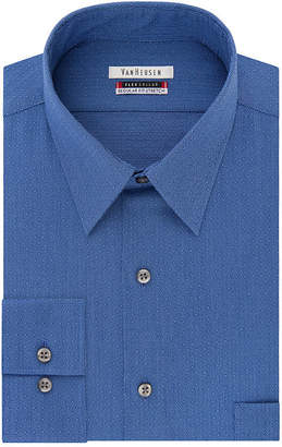 Van Heusen B&T Flex Collar Long Sleeve Woven Pattern Dress Shirt