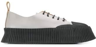 Jil Sander ribbed rubber-detailed sneakers