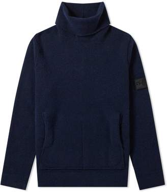Stone Island Shadow Project Wool Gauzed Roll Neck Knit