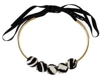Marni Fur Beaded Collar Necklace