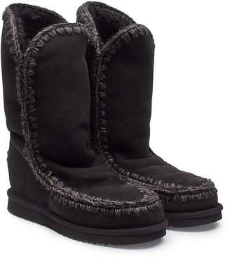 Mou Tall Wedge Sheepskin Boots
