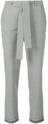 Fabiana Filippi slim belted houndstooth trousers
