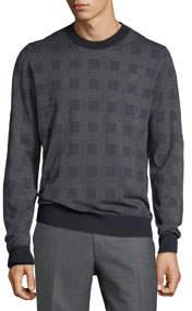 Men's Crewneck Knit Sweater Blue