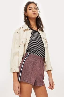 Topshop Glitter Side Striped Shorts