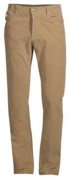 Isaia Corduroy Stretch Cotton Pants