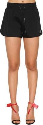 Off-White Rubber Logo Patch Nylon Shorts