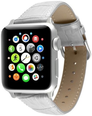 PEUGEOT Watches Apple Watch Replacement Leather Band 38mm with Steel Adapter - White $29.99 thestylecure.com