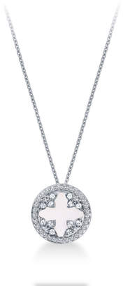 Treasure Empress 18ct White Gold Mother of Pearl and 0.25cttw Diamond Pendant