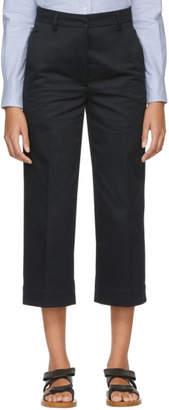 Thom Browne Navy Twill Belt Loop Trousers