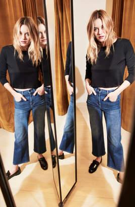 J Brand Joan High-Rise Wide-Leg Crop In Striker